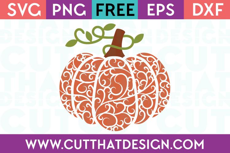 Free Flourish Pumpkin SVG Cutting File