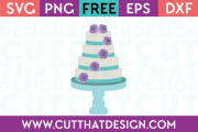 Free SVG Files Wedding Cake with Rose