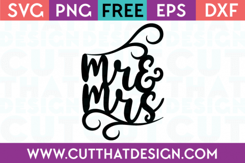 Free SVG Files Mr and Mrs Cake Topper