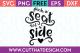 Free SVG Files Pick a Seat not a Side Wedding Phrase