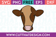 Free SVG Files Cow Head Design