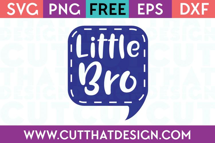 Free SVG Files Little Bro Speech Bubble
