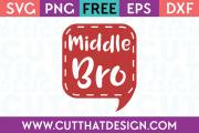Free SVG Files Middle Bro Speech Bubble
