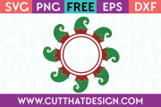 Free SVG Files Elf Hat Circle Monogram Frame