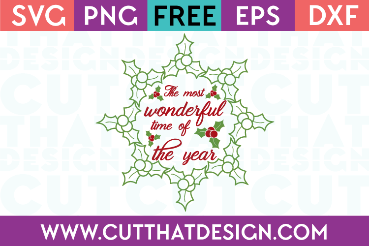 Free SVG Files The Most Wonderful Time of the Year