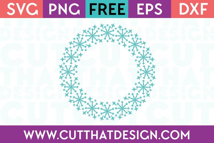 Free SVG Files Snowflake Circle Monogram Frame Design 2