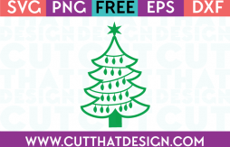 Free SVG Files Christmas Tree Outline with Lights