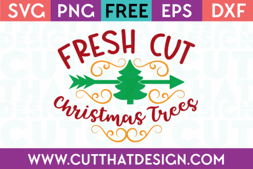 Free SVG Files Fresh Cut Christmas Tree