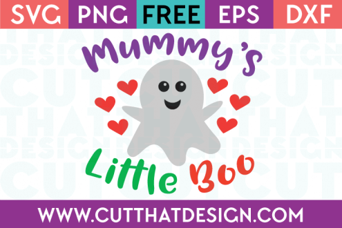 Free SVG Files Mummy's Little Boo