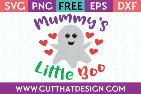 Free SVG Files Mummy's Little Boo