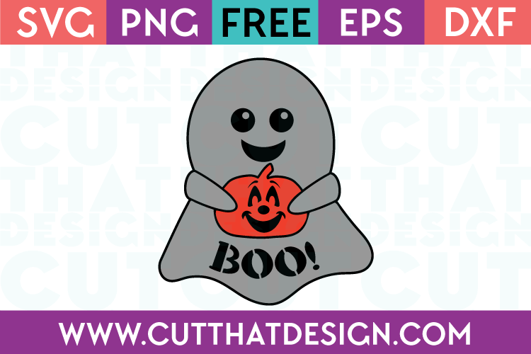 Free SVG Files Cut Ghost Holding Jack o Lantern