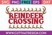 Free SVG Files Christmas Reindeer Crossing