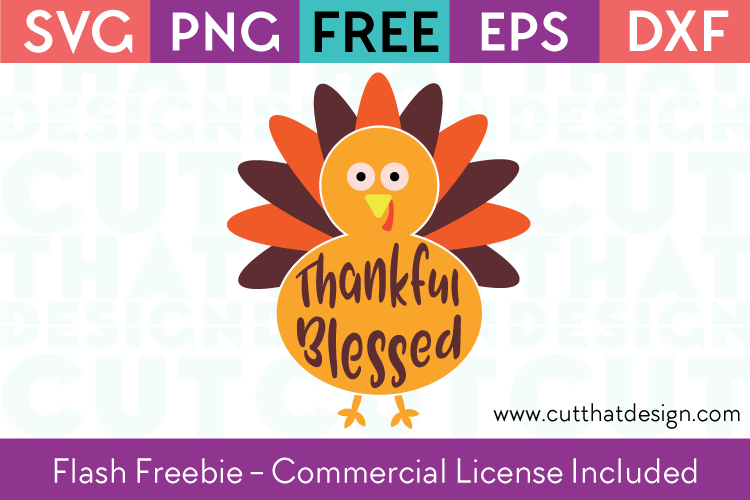 Free SVG Turkey Flash Freebie
