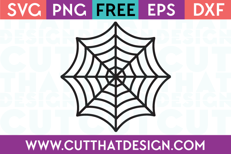 Free SVG Files Halloween Spiders Web