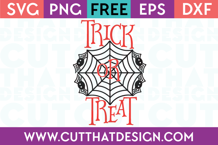 Free SVG Files Halloween Trick or Treat Spider Design