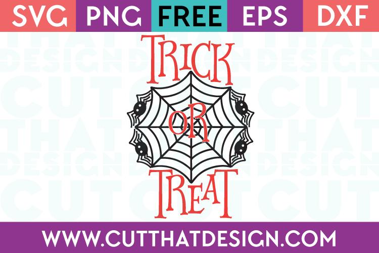 Free SVG Files Halloween Trick or Treat Spider Design