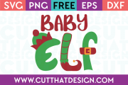 Free SVG Files Christmas Baby Elf