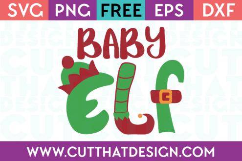 Free SVG Files Christmas Baby Elf
