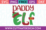Free SVG Files Christmas Daddy Elf
