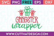 Free SVG Files Christmas Gangster Wrapper