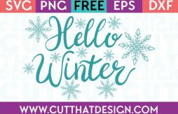 Free SVG Files Hello Winter