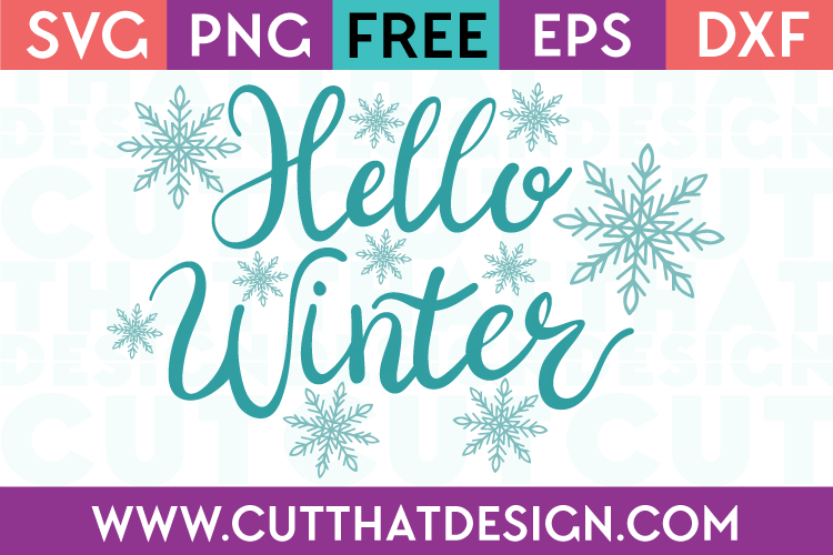 Free SVG Files Hello Winter