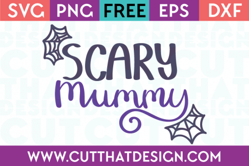 Free SVG Files Halloween Scary Mummy