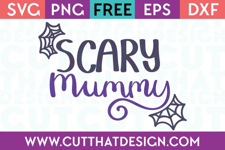 Free SVG Files Halloween Scary Mummy