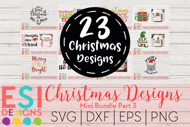 Christmas svg file bundle