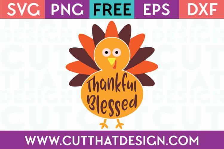 Thankful Blessed Turkey Design