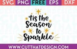 Free SVG Files Tis the Season to Sparkle