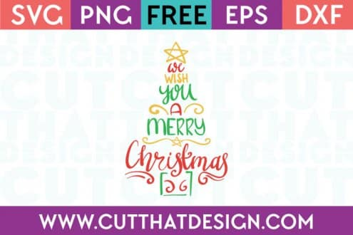 Free SVG Files We Wish you a Merry Christmas