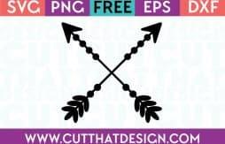 Free Cut Files Crossing Arrows Design