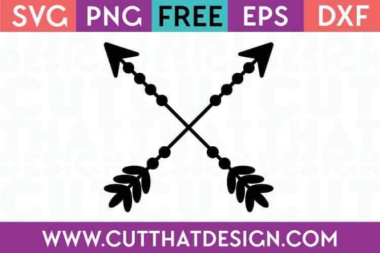Free Cut Files Crossing Arrows Design