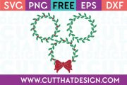 Free SVG Cut Files Holly Wreath Set