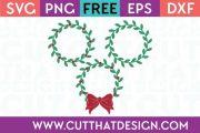 Free SVG Cut Files Holly Wreath Set