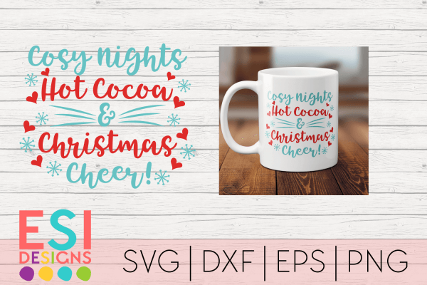 Cosy family christmas svg