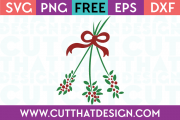 Free Christmas SVG Mistletoe Design
