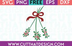 Free Christmas SVG Mistletoe Design