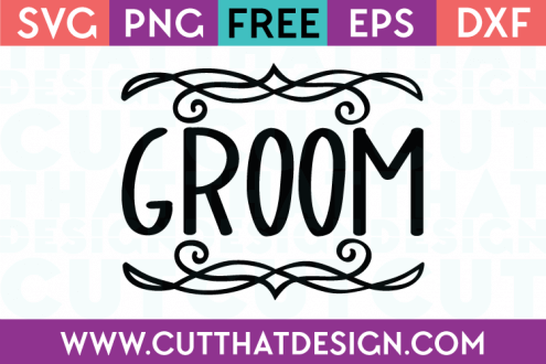 Free SVG Files Wedding Groom