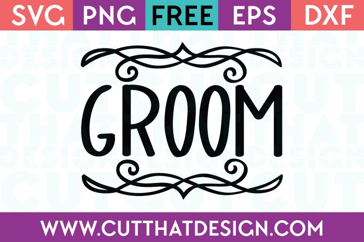 Free SVG Files Wedding Groom