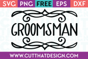 Free SVG Files Wedding Groomsman