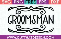 Free SVG Files Wedding Groomsman
