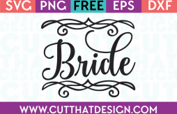Free SVG Files Wedding Bride