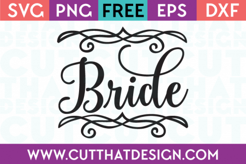 Free SVG Files Wedding Bride