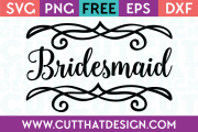 Free SVG Files Wedding Bridesmaid