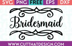 Free SVG Files Wedding Bridesmaid