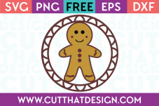 Free SVG Files Christmas Gingerbread Man Gift Tag