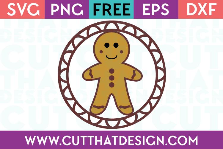 Free SVG Files Christmas Gingerbread Man Gift Tag