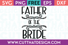 Free SVG Files Wedding Father of the Bride
